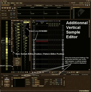 Renoise Additionnal Vertical Sample Editor