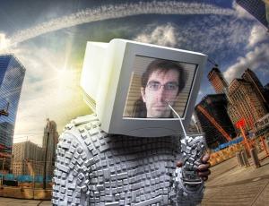 La tête dans son écran d'ordi, au sens propre comme au sens figuré