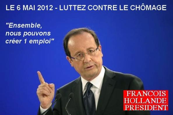 Lutter contre le chômage, F. Hollande Président