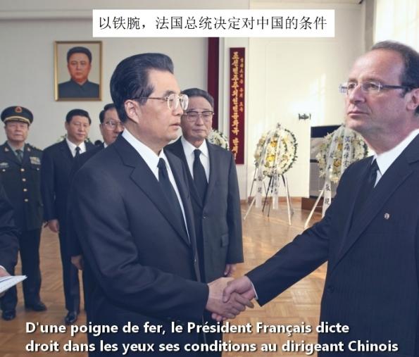 François qui en impose à ses homologues Chinois